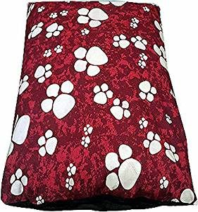 Red paws pet dog bed